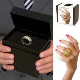 Beker met 2 K. Swarovski krystal Ring