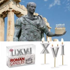 """Verjaardagskaarsen """"Romeinse Letteren"""""""