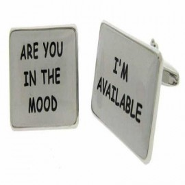 """Cufflinks """"AVAILABLE & IN THE MOOD"""""""