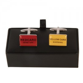 "Cufflinks ""RED / YELLOW card"""