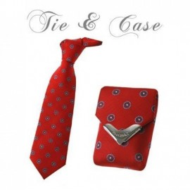 "Tie & Case ""Red Flowers"""