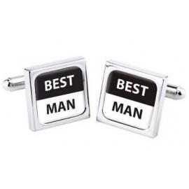 """Cufflinks Bliss """"BEST MAN"""""""