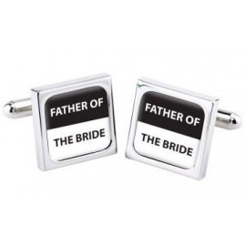 "Cufflinks Bliss ""FATHER OF THE BRIDE"""