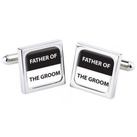 "Cufflinks Bliss ""FATHER OF THE GROOM"""
