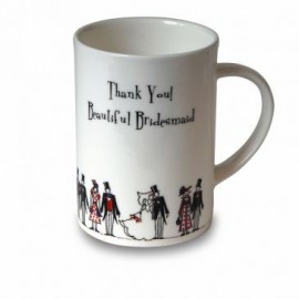 """Mug """"Thank you! Beautiful Bridesmaid"""""""