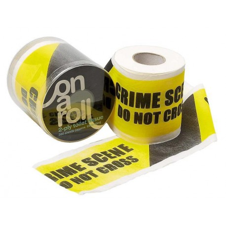 Toilet paper crime scene the gadget spot - Distributeur papier toilette original ...