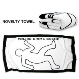 "Bath Towel ""Crime Scene"""