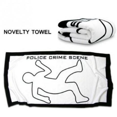 "Bath Towel ""Crime Scene"""