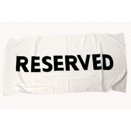 "Bath Towel ""Reserved"""
