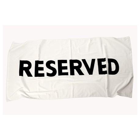 """Badhanddoek """"Reserved"""""""