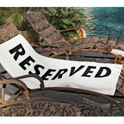 "Bath Towel ""Reserved"""