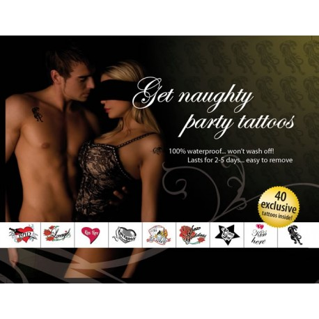"""Tattoo Set """"Get Naughty & Party"""""""