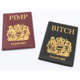 "Passport Covers ""Pimp & Bitch"