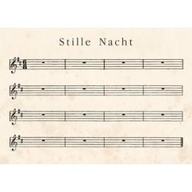 """Kerst Wenskaart """"Stille Nacht"""""""