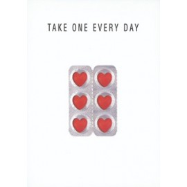 "Wenskaart ""Take one every day"""