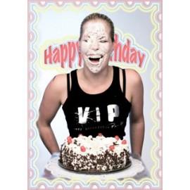 """Wenskaart """"V.I.P Birthday Cake"""""""