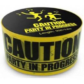 "Tape ""Party in Progress"" Per 2"