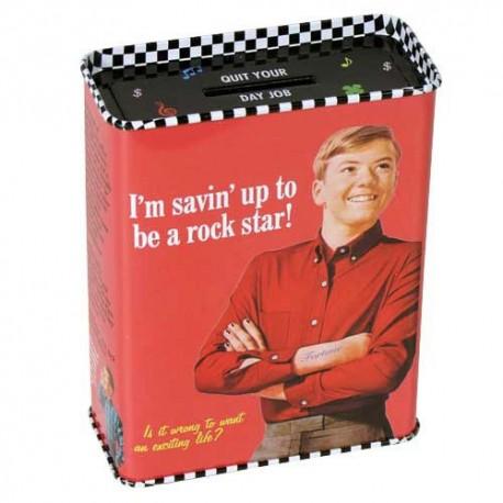 """Spaarpot """"Savin' Up to be a Rockstar"""""""