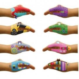 Hand Tattoos 'Robots'