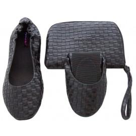 Faltbare Schuhe 'Black Weave´