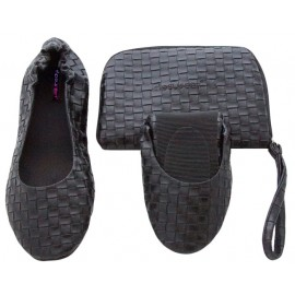 Opvouwbare Schoenen 'Black Weave´'