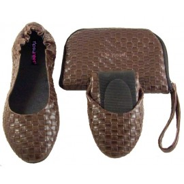 Foldable shoes 'Brown Weave'