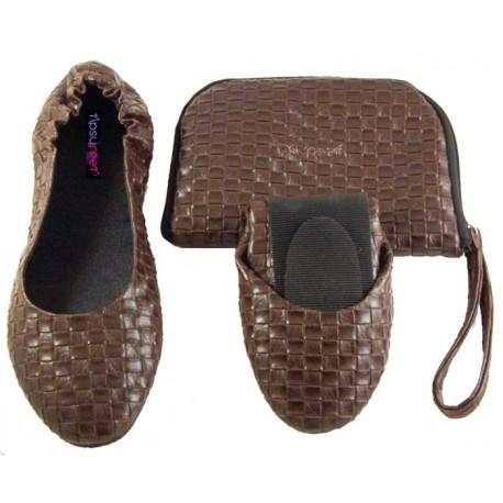 Opvouwbare Schoenen 'Brown Weave´