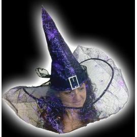 Heksen Hoed met sluier