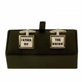 "Cufflinks ""FATHER OF THE BRIDE"""