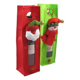 Wine Bag 'Santa Claus or Snowman'