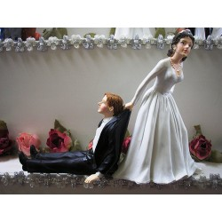 Weddingcake Topper ´Reluctant Groom´