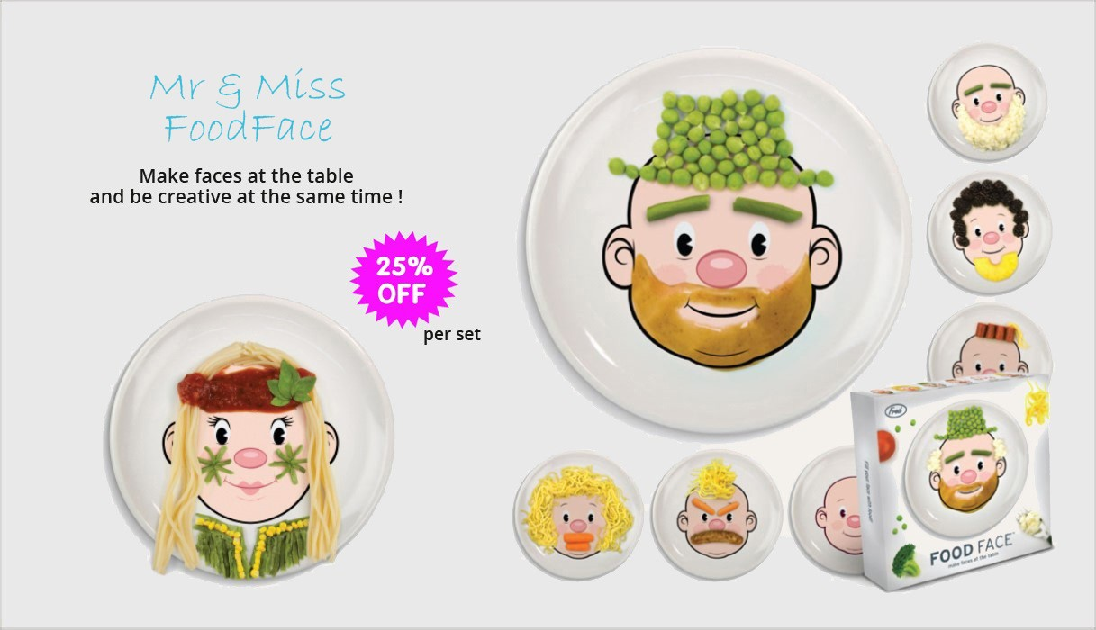 children's plates foodface